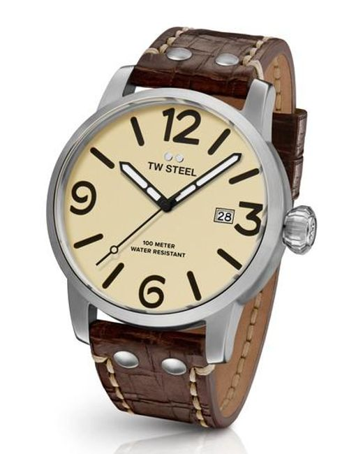 TW Steel | Multicolor Maverick Automatic Leather Strap Watch for Men | Lyst