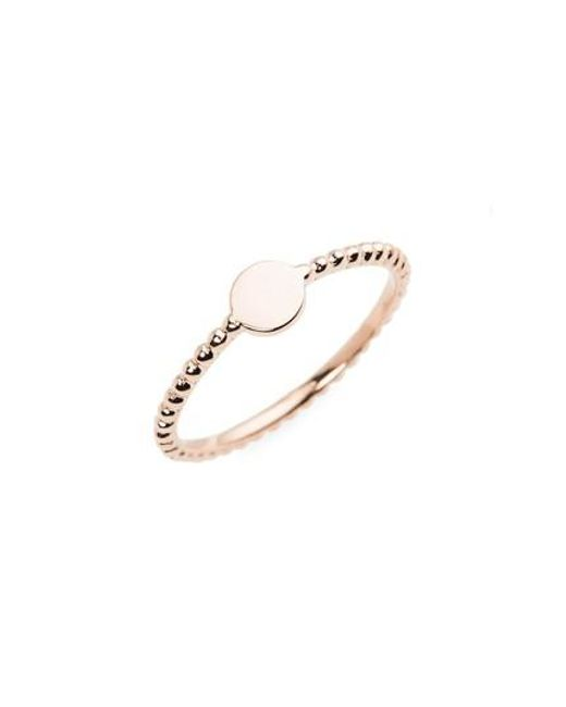 Bony Levy | Pink 14k Gold Circle Ring (nordstrom Exclusive) | Lyst