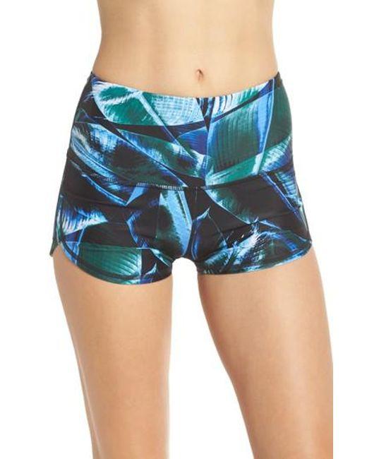 Zella - Blue So Hot High Waist Shorts - Lyst