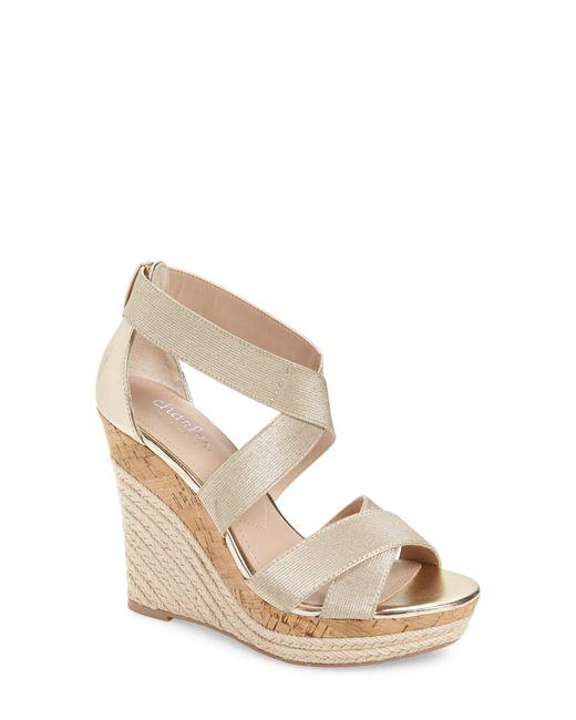 Charles David Metallic Azures Wedge Sandal