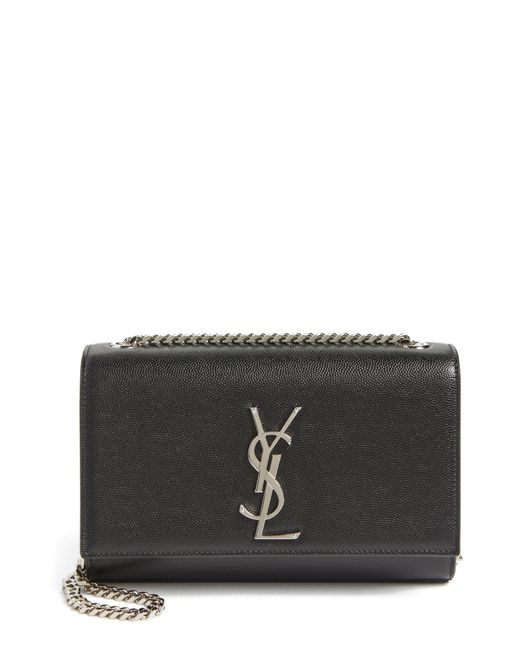 3f05c24da5f1 Lyst - Saint Laurent Small Kate Grained Leather Crossbody Bag in Black