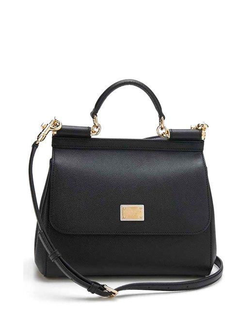 Dolce & Gabbana Black 'small Miss Sicily' Satchel