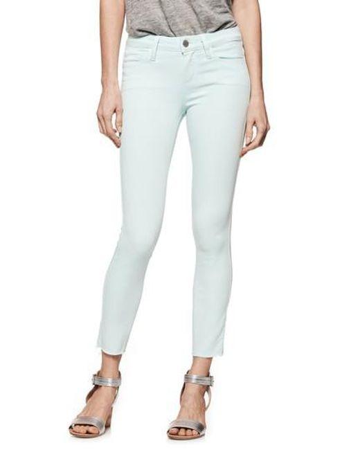 PAIGE - Blue Transcend - Verdugo Crop Skinny Jeans - Lyst