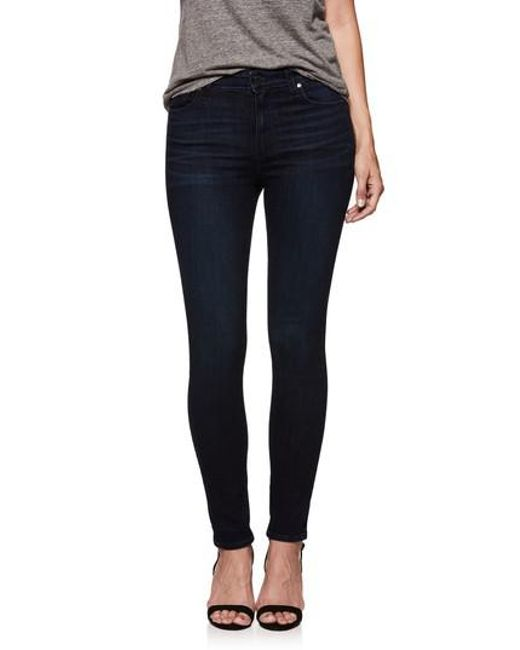 PAIGE - Blue Transcend Vintage - Hoxton High Waist Ultra Skinny Jeans - Lyst