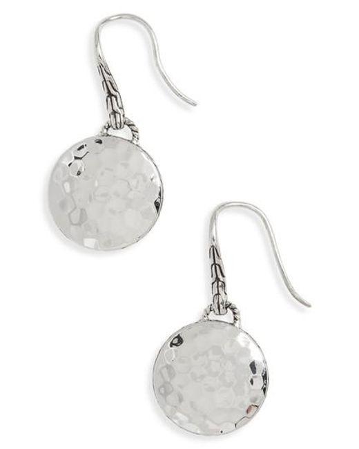 John Hardy Dot Silver Drop Earrings GLalq