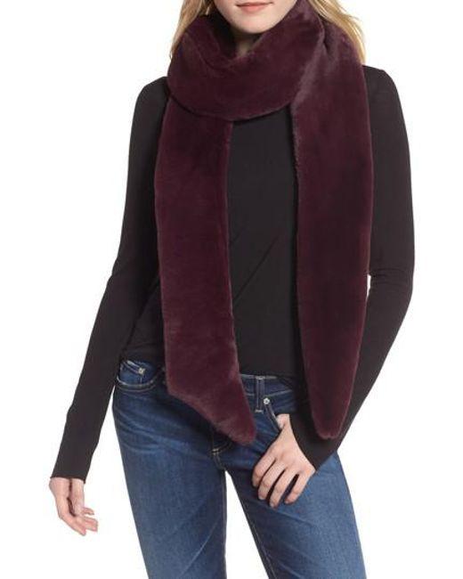 Heurueh | Purple Skinny Faux Fur Scarf | Lyst