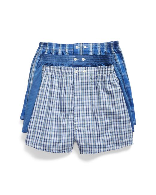 Nordstrom 3-pack Classic Fit Boxers, Blue for men