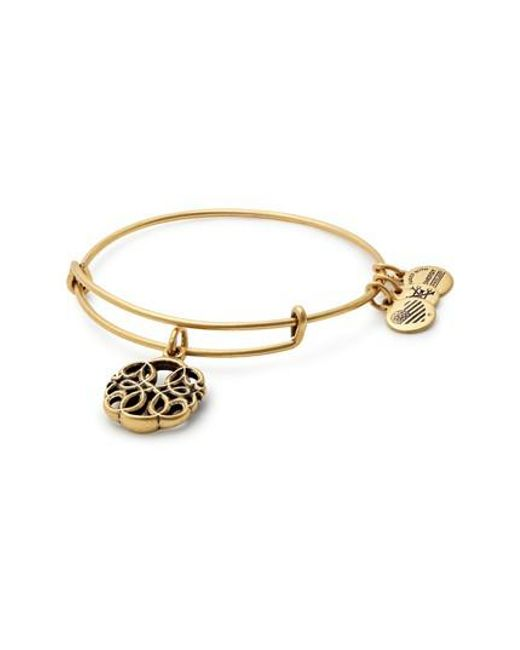 ALEX AND ANI - Metallic Path Of Life Adjustable Wire Bangle - Lyst