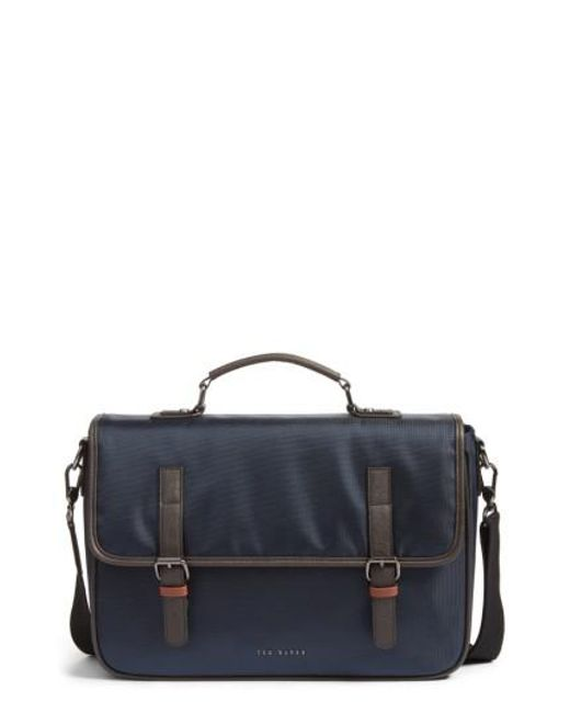 Ted Baker | Blue Cattar Messenger Bag for Men | Lyst