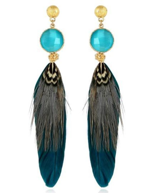 Gas Bijoux Sao Feather Drop Earrings EqhEaue