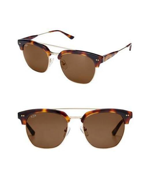 KAPTEN & SON - Brown Havana 50mm Sunglasses - - Lyst