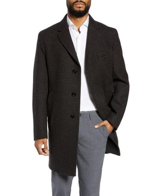 c8cb21baf6d0 Lyst - Boss Shawn Trim Fit Wool Blend Top Coat in Black for Men