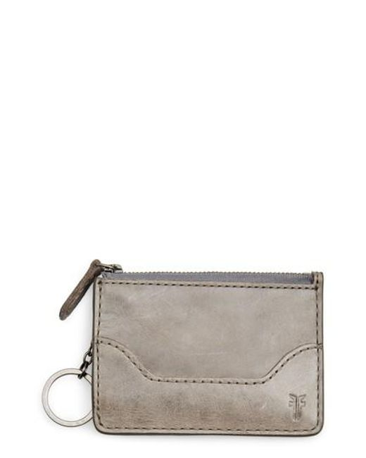 Frye - Multicolor Melissa Leather Card Holder With Key Ring - Lyst