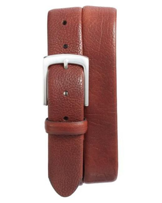 Bosca | Brown Tubular Leather Belt for Men | Lyst