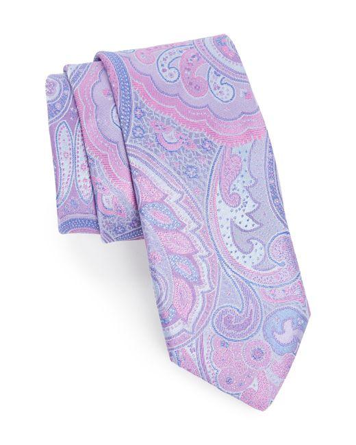 Ted Baker - Purple Paisley Silk Tie for Men - Lyst