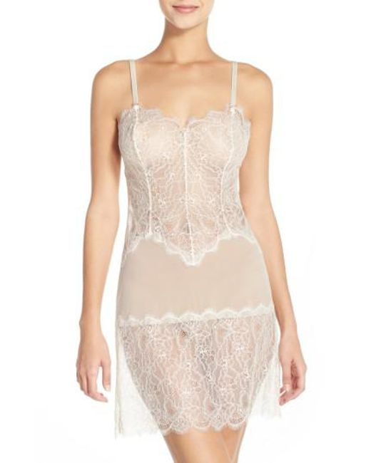 B.tempt'd - Natural 'b.sultry' Chemise - Lyst