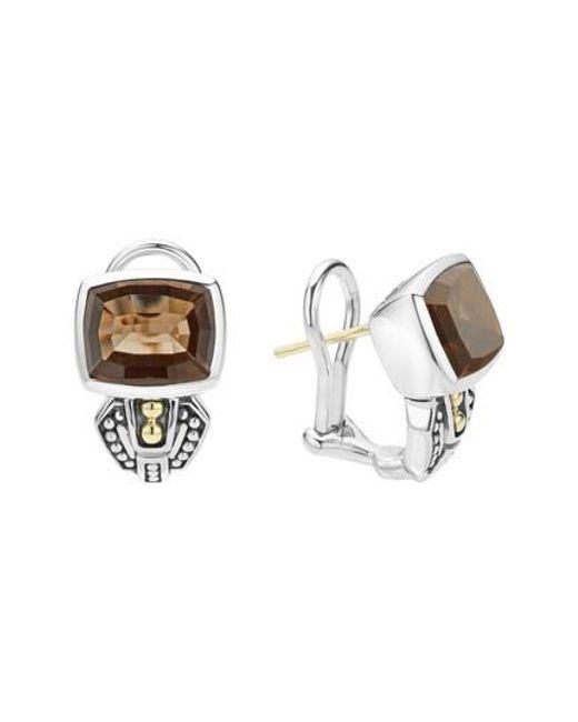 Lagos | Metallic 'caviar Color' Semiprecious Stone Stud Earrings | Lyst