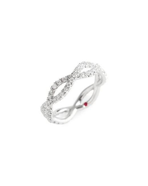 Roberto Coin - Metallic Diamond Infinity Ring - Lyst
