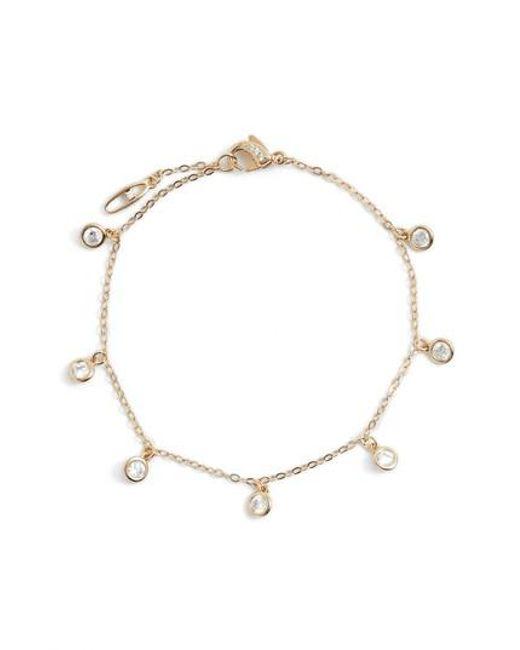 Nadri - Metallic Cubic Zirconia Shaker Bracelet - Lyst