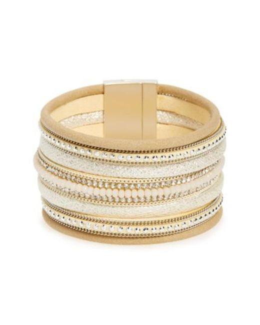Panacea | Metallic Multirow Bracelet | Lyst