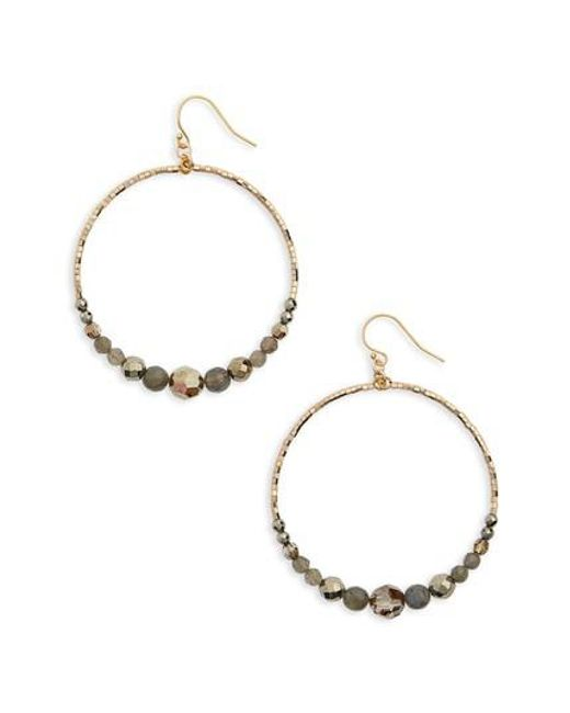 Chan Luu | Metallic Labradorite Mix Hoop Earrings | Lyst