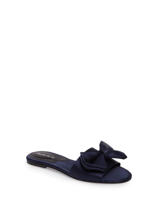 Charles David - Blue Bow Slide Sandal - Lyst