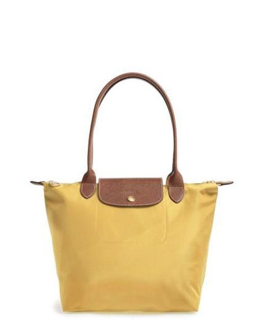 Longchamp | Multicolor 'small Le Pliage' Shoulder Tote - Metallic | Lyst