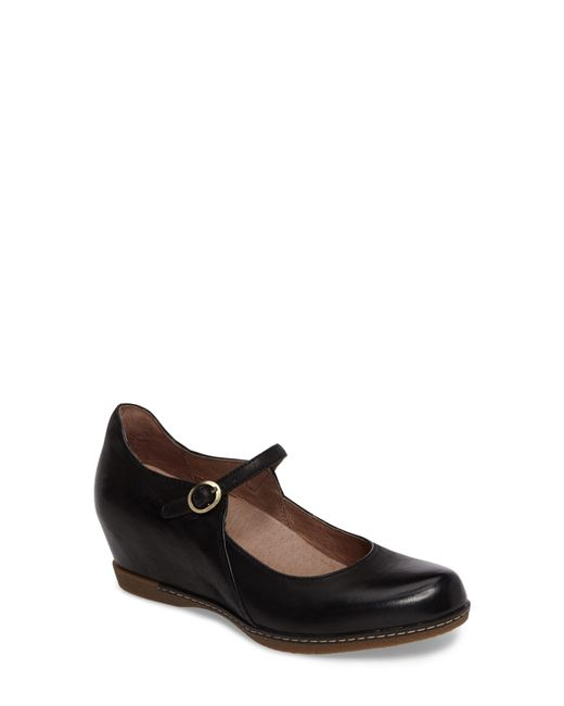 Dansko - Black Loralie Mary Jane Wedge - Lyst