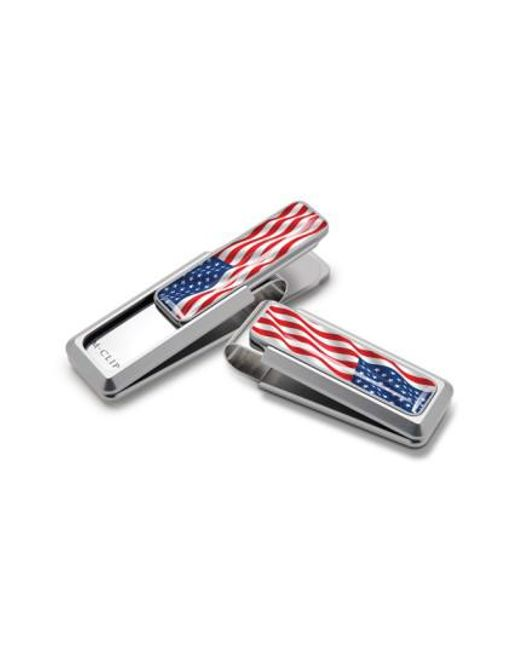 M-clip - Blue M-clip American Flag Money Clip - Metallic for Men - Lyst