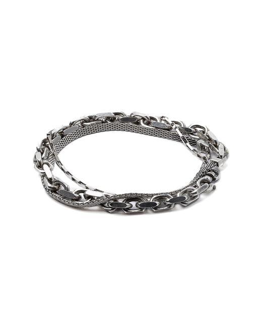 Title Of Work - Metallic Triple Wrap Bracelet for Men - Lyst