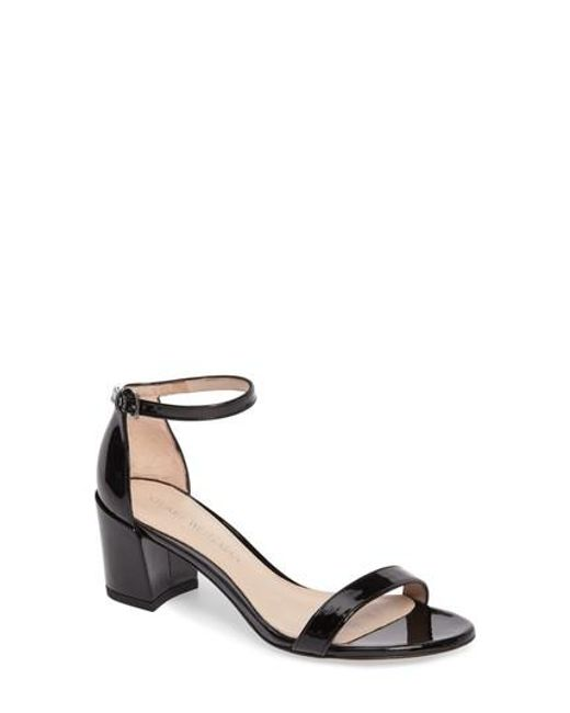 Stuart Weitzman   Black Simple Ankle Strap Sandal   Lyst