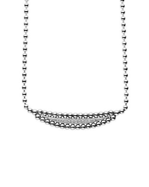 Lagos | Metallic Caviar Spark Diamond Necklace | Lyst