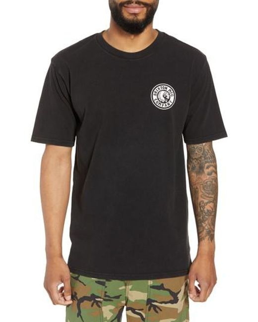 Brixton - Multicolor Rival Ii Graphic T-shirt for Men - Lyst