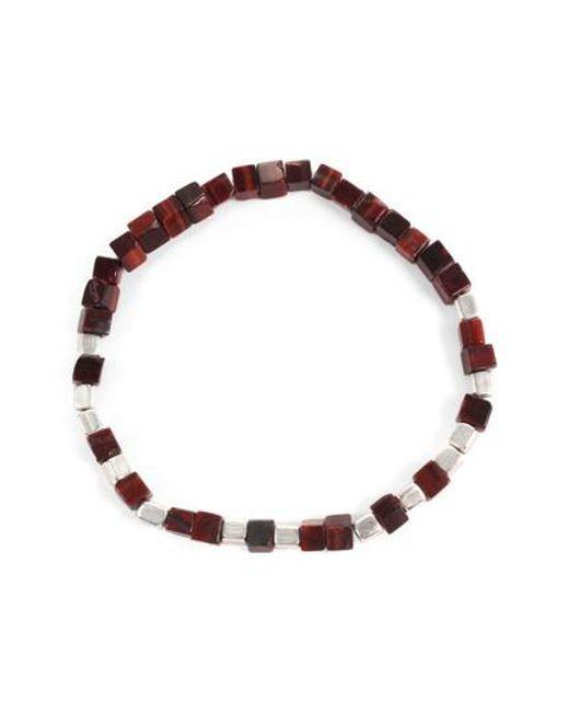 George Frost - Multicolor Life Morse Beaded Bracelet for Men - Lyst