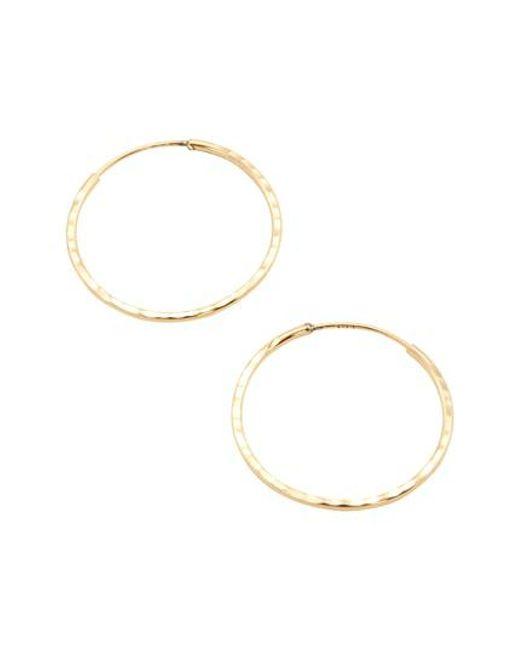 Loren Stewart - Metallic Gold Hoop Earrings - Lyst