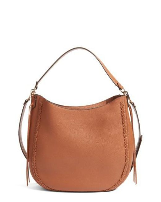 Rebecca Minkoff | Brown Unlined Convertible Whipstitch Hobo | Lyst