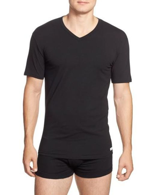 Calvin Klein | 2-pack Stretch Cotton T-shirt, Black for Men | Lyst