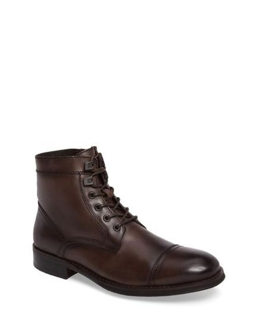 Kenneth Cole | Brown Cap Toe Boot for Men | Lyst