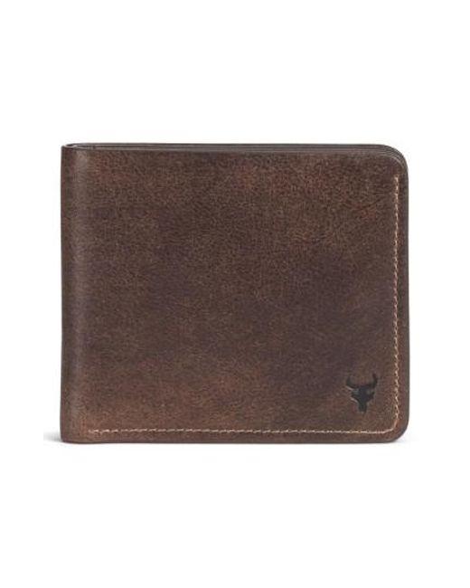 Trask - Brown 'jackson' Slimfold Bison Leather Wallet for Men - Lyst