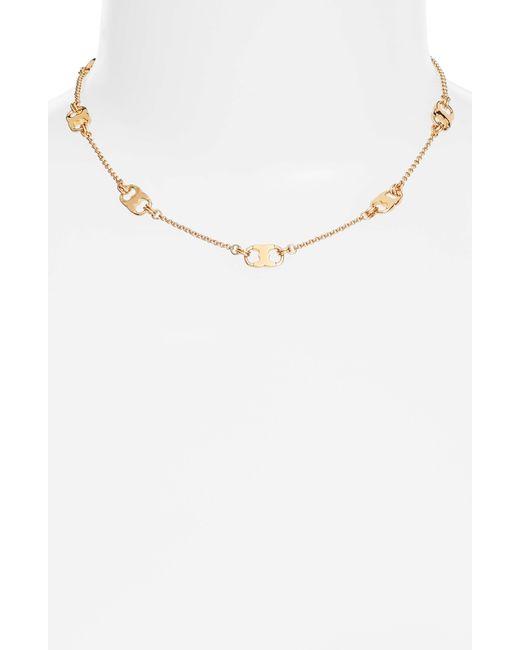 Tory Burch - Metallic Gemini Link Station Necklace - Lyst