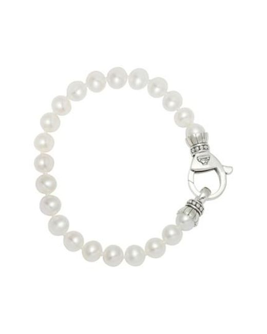 Lagos | Metallic 'luna' 7.5mm Pearl Bracelet | Lyst