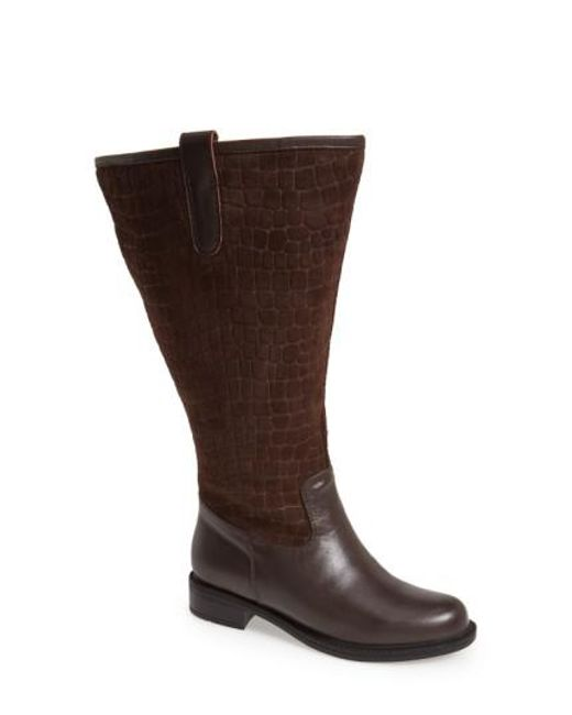 David Tate | Brown 'Best' Calfskin Leather & Suede Boot | Lyst