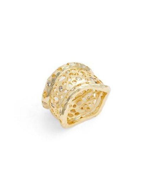 Melinda Maria - Metallic Honey Cigar Ring - Lyst