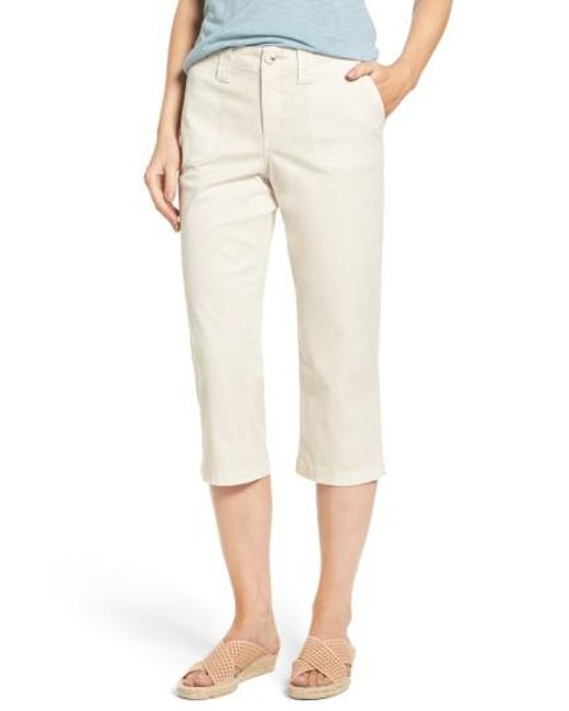NYDJ | Natural Stretch Cotton Crop Pants | Lyst