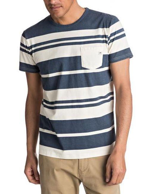 Quiksilver - Gray Lokea Stripe Pocket T-shirt for Men - Lyst