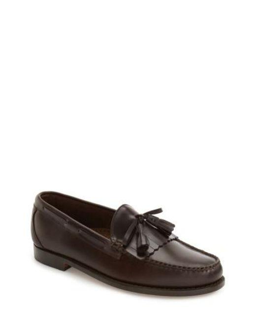 G.H. Bass & Co. | Black 'lawrence' Tassel Loafer for Men | Lyst