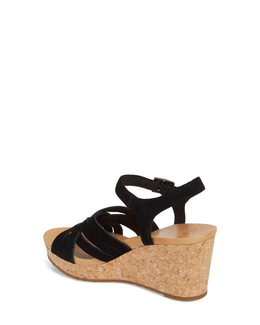 1afc635ba06 Women's Black Ugg Uma Wedge Sandal
