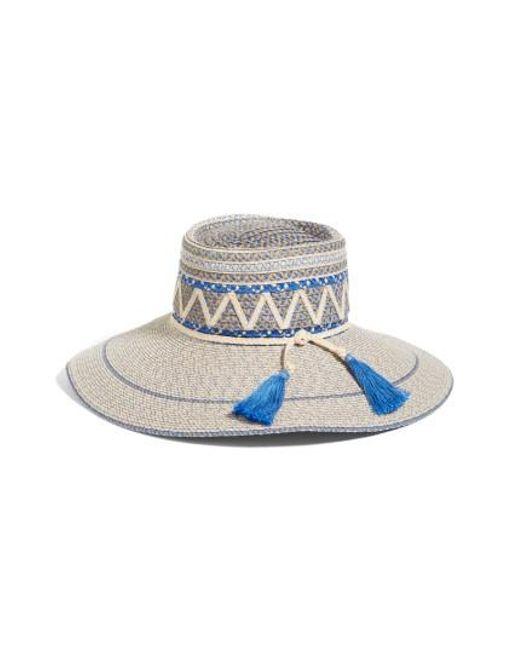Eric Javits   Blue Palermo Squishee Wide Brim Hat   Lyst
