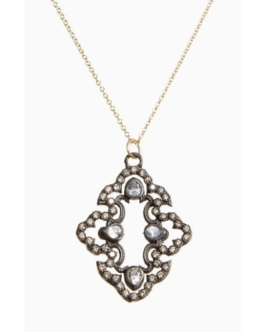 Armenta | Black Old World Diamond Scroll Pendant Necklace | Lyst