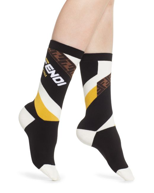 Fendi - Multicolor X Fila Mania Logo Socks - Lyst